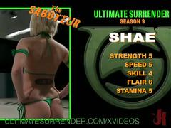 ultimate, surrender, sexual, wrestling, strapon, girl, bisexual, bikini, reality