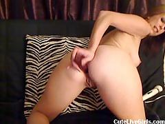 Cute hot blonde fucks her sweet pussy2.flv