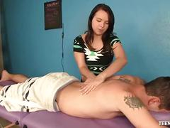Teen masseuse loves big cocks