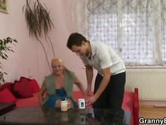 Dirty naughty blonde granny hot pick up sex