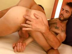Horny latin gays are blowing each other big cocks.