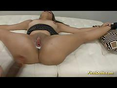 Sophia torres  as a real flexi doll gets toyed.