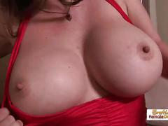Big tit babes june and daisy lick each other's pussy