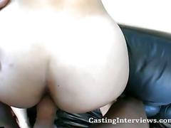 Naughty brunette cutie fucked in hardcore casting
