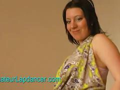 Pregnant teen does lapdance and strip