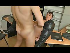 Old german mom office fuck