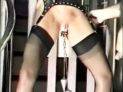 Pregnant bdsm girl fucked in sexshop