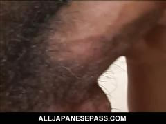 Cock gulping alluring asian whore begs for tons of super hot cum