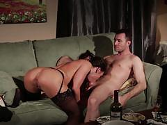 Sweet sinner throbbing cock ramming into adria...