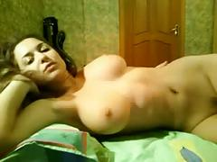 Russian amateur stripping in her bedroom