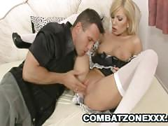 Hot maid donna bell riding her boss's hard dick