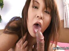 Avidolz japanese brunette drools over this har...