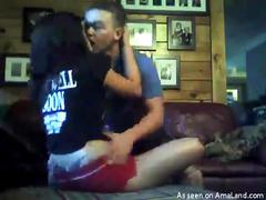Horny girlfriend getting finger-banged