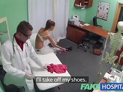 Fakehospital nympho brunette teen is back in doctors office