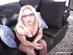 Gorgeous blonde  babe in eyeglasses 1