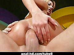 Beautiful half asian chick nailed by cock