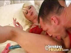 Sexy cougar karen smoking  - cocktail
