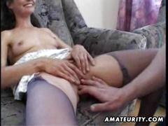Mature amateur wife homemade fuck with cumshot