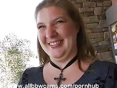 Plumper gal gets it from throbbing stud part 1