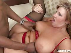 Wild milf is really loving a big black cock