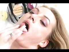 Amazing blonde fucks for creampie
