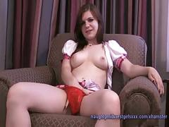 Evelyn - 19 yo. cutie school girl audition
