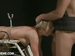 bdsm, blonde, hardcore, toys, bondage, dildo, doggy style, extreme, forced, missionary, painful, rough fuck, vibrator