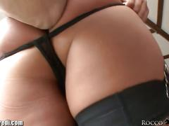 big ass, blowjob, pornstar, pov, big tits, booty, bubble butt, collar, corset, cumshot, deepthroat, european, facial, high heels, oral sex, point of view, pov blowjob, rocco-siffredi, round ass, stockings