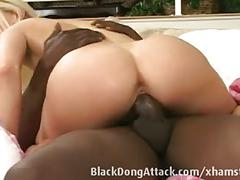 Blonde girl gets fucked by a bbc