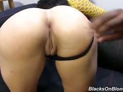 Valerie kay gets facialed by black guy
