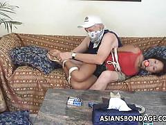 Asians bondage dominated asian gets her pussy...