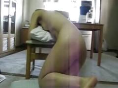 Amateur japanese slave ass whipped and fucked hard