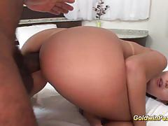 Goldwin pass taking a first huge black anal di...