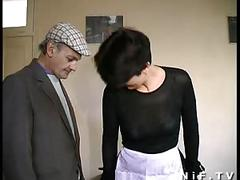 French mature gets dp in a gangbangwith papy voyeur
