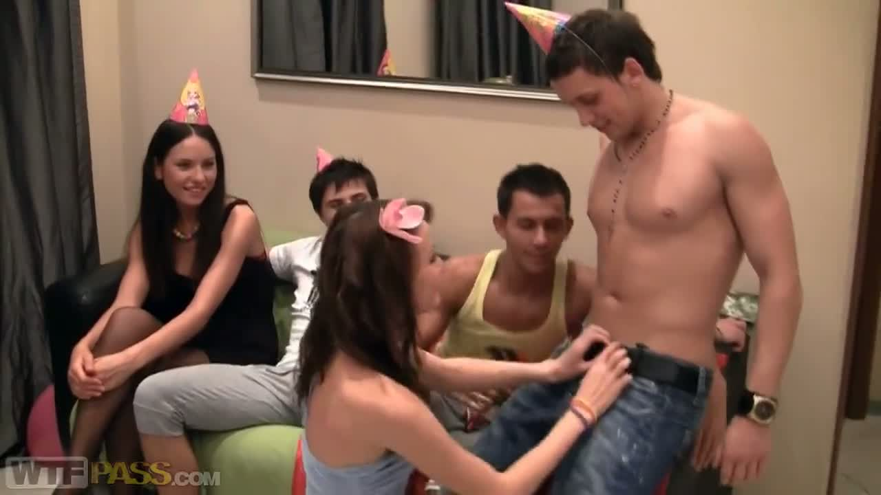 The birthday finish with anal sex