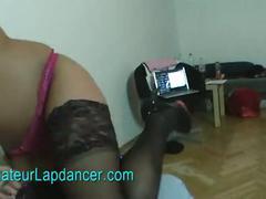 Amateur teen redhead lapdances