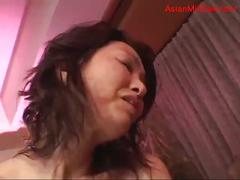 Milf giving blowjob for young guy getting her hairy...