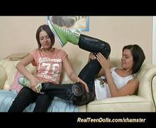 Lesbian strapon anal