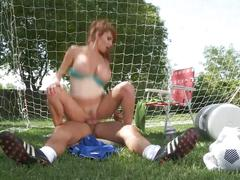 Hot milf taylor wane gets fuck in soccer field