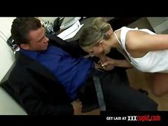 Secretary gets fucked on the desk