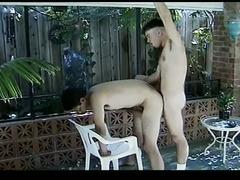 Cum starving young gay fuckers in ultimate outdoor anal pounding