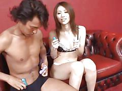 Pretty asian chick enjoys sex toys