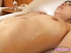 Asian lesbian body rub