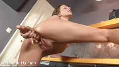 Pussy clip and dildo