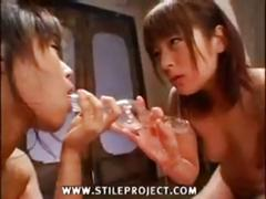 2 japanese girls have fun together