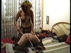 German mistress punishes and uses her slave