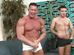I paid a 220lb str8 bodybuilder buddy to pounds my cute boy's butt.