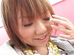 Japanese pussy toyed and pleased
