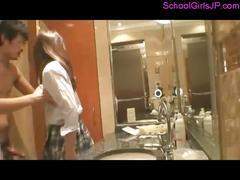 Schoolgirl getting her pussy fucked facial sucking...