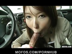 Sexy japanese brunette girlfriend yui hatano picked up & fucked